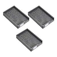 uxcell ESD帯電防止ネジプレート スクリュートレイ ネジ収納トレイホルダー 3-3.5mm直径ねじに適用 273穴 3個入り