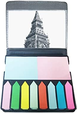 Bell Tower Landmark Sketch Self Stick Note Color Page Marker Box