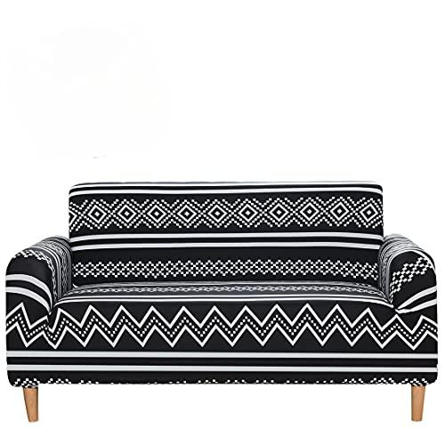 DANNEIL Funda De Sofa Impermeable, Fundas Sofa Elasticas Universal, Tela De Impresión De Spandex Elástica, para Fundas para Sofa De Sala De Estar, Fácil De Cuidar (Colour 3,1 Seater 90-130cm)