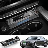 ZHANGYU Chargeur de téléphone sans Fil, Chargeur sans Fil Standard Qi 15W Charge Rapide pour Audi...
