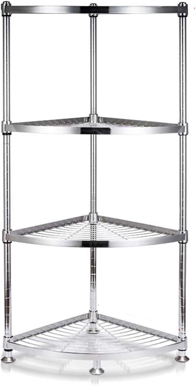 Kitchen Storage Rack Stainless Steel Space-Saving Kitchen Multi-Layer Triangle Rack Corner Rack Put Pot Shelf Storage Supplies Organisation