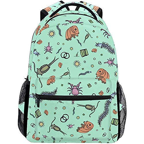College Bag Mikroskopische Tiere Scientist College Taschen Rucksack Leichter Freizeitschüler Reisen Langlebig