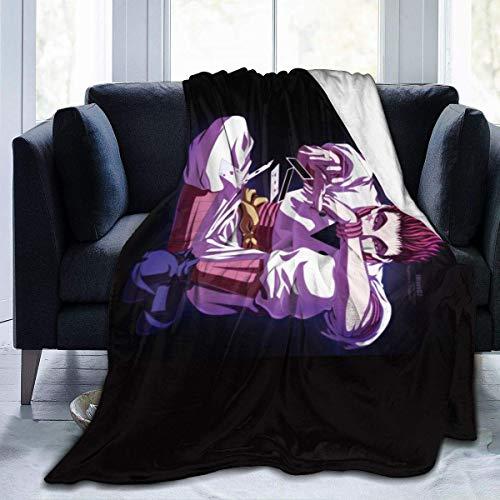 Hunter X Hisoka Morow - Manta para ventiladores, manta acogedora para sofá de coche, manta ultra suave, franela impresa en 3D, para 152 x 127 cm