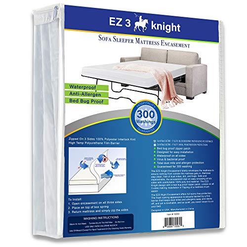 EZ3 Knight Sleeper Sofa Mattress Protector Zippered – Sofa Mattress Protector Designed 100% Waterproof Zippered Encasement, - Soft, Material - Queen Sleeper Sofa (60x72x5)