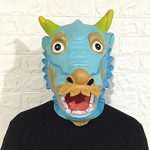 LJZXXK Puntelli Cinesi di manifestazione della Barra di Halloween del Copricapo del Lattice del Fumetto del Copricapo Animale del Fumetto della Mascherina Cinese del Rubinetto
