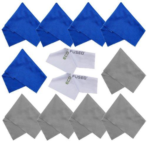 Mikrofasertücher - 12 Pack - Reinigen von Brillen, Sonnenbrillen, Kameraobjektiven, Tablets, Handys, Telefonen, Laptops, LCD-Bildschirmen und Anderen empfindlichen Oberflächen