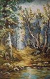 Set de bordado tapiz'Forest Landscape' 40x25cm set de bordado en punto de cruz.Incluye hilo de algodón multicapa cod.654