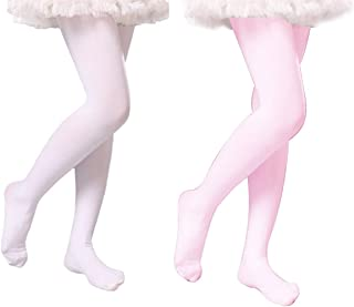 3a6c75563 2 Pack Toddlers Girls Ballet Dance Tights Soft Footed Stockings Pantyhose  for Kids