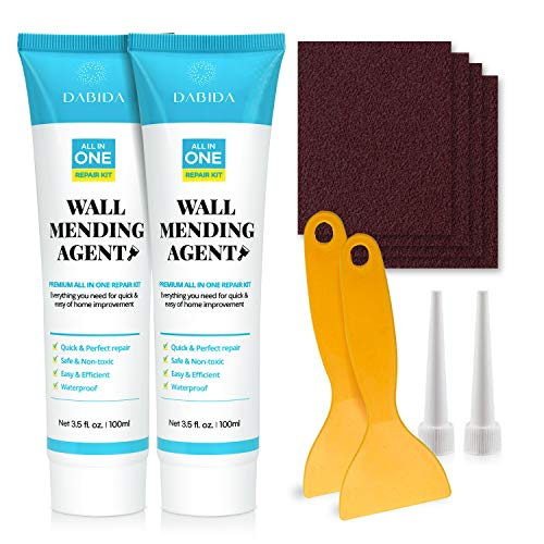 Wall Mending Agent Cream Drywall Repair Kit -Spackle Wall Repair, Plaster Wall Repair, Safe, Quick & Easy Solution to Fill the Crack & Hole, Drywall Paste, Safemend Wall Mending Agent, Waterproof(2pc)