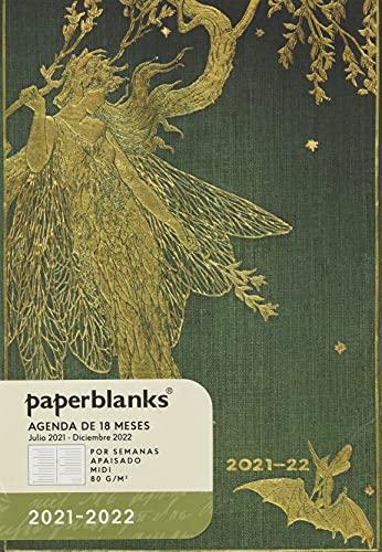 Paperblanks Agenda 18 mesi 2021-2022 Fata Oliva   orizzontale   Midi (130 × 180 mm)