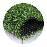 ALYR Gazon Artificiel Moquette, Réaliste Pelouse Herbe Synthétique Tapis Type Artificiel Tapis d'herbe 10 mm Hige pour Les Chiens d'intérieur en Plein air,Green_12x24ft/4x8m