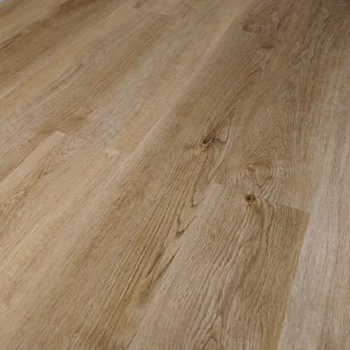 TRECOR® Klick Vinylboden RIGID 3.2 Massivdiele - 3,2 m stark mit 0,20 mm Nutzschicht - Sie kaufen 1 m² - WASSERFEST (Vinylboden 1 qm, Eiche Rustique Natur)