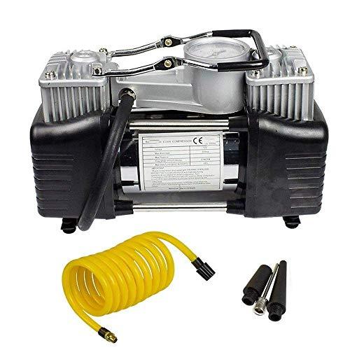 YYhkeby Schnurlose Auto-Reifenpumpe 12V 150psi tragbare Hochleistungs-Doppelzylinder-Luftpumpe Luftkompressor-Reifen-Inflator für Auto Off-ro Jialele (Color : Silver)
