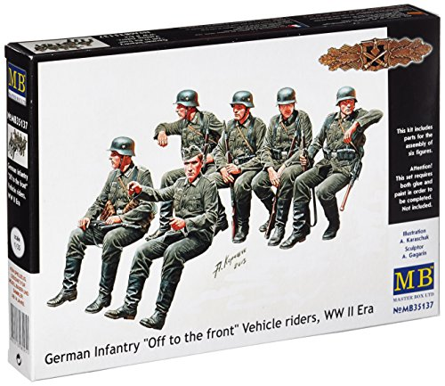 Masterbox MB35137 - 1/35 Deutsche Infanterie, Kraftfahrzeug Besatzung 6 Figuren