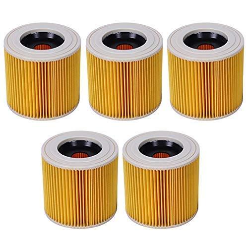 YBINGA 5 unids filtro de polvo de aire de repuesto para Karcher Partes de aspirador WD2250 WD3.200 MV2 MV3 WD3 A2004 A2204 HEPA filtro Partes de aspirador