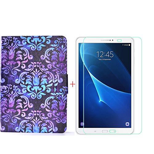 szjckj Protector de Pantalla + PU Carcasa para Samsung Galaxy Tab A6 SM-T280 (7,0') Tablet, Funda Protectora con Función de Soporte - HD Cristal Vidrio Templado Protector - LW88