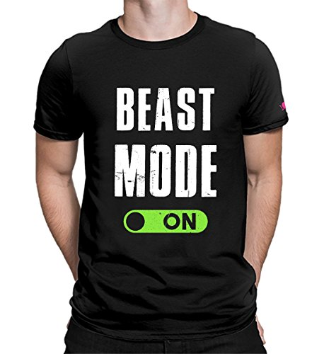 PrintOctopus Graphic Printed T-Shirt for Men | Beast Mode Tshirt | Gym Tshirt | Half Sleeve T-Shirt for Women | Round Neck T Shirt | 100% Cotton T-Shirt | Short Sleeve T Shirt