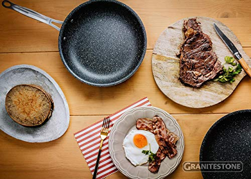 GRANITESTONE 2144 Nonstick, No-warp, Mineral-enforced Frying Pans with Stay-Cool Handles, Dishwasher-safe, PFOA-Free As Seen On TV (10-inch)