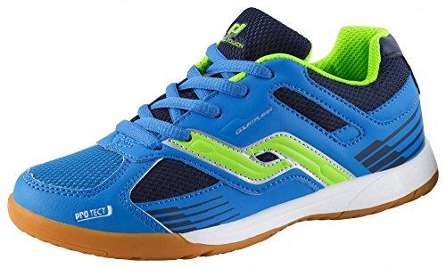 Pro Touch Indoor-Schuh Courtplayer, Unisex-Kinder Multisport Indoor Schuhe, Blau (Blau/Grün/Navy 000), 31 EU (12.5 UK)