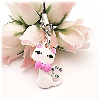 For Blackberry Curve 8520 8530 Cell Phone Charm WHITE CAT
