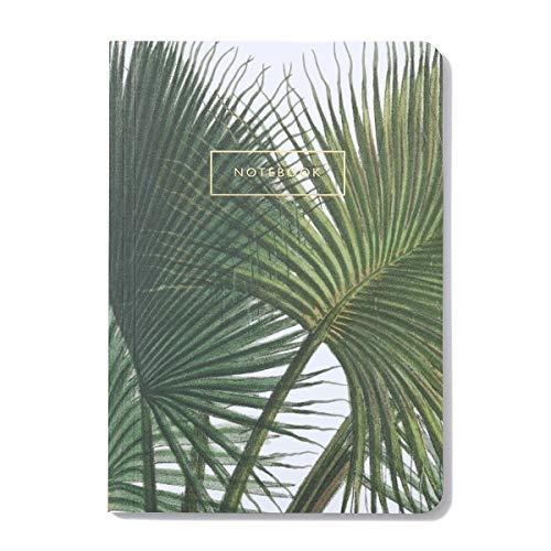 Botanical notizbuch, Din A5, soft cover, linierte seiten, vollfarbig goldfolendruck,...
