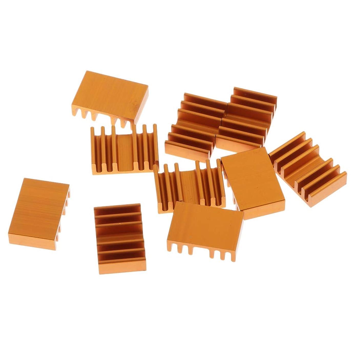 Homyl 10 Lot CPU Cooling Heatsinks, VGA RAM Cooler Fin, with Cable Ties, 13.7x20x6mm, Aluminum, for Desktop Laptop PC Computer