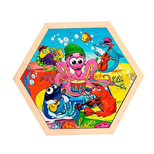 Kinder pädagogische Tier Cartoon Puzzles Eltern-Kind frühe Bildung Spielzeug 50 Stück
