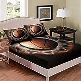 Basketball Shooting Basket Bed Sheet Kids Boys Girls Twin XL Basketball Bedding Set Modern Cool Sport Theme Bedding Microfiber Bed Sheets Fitted Sheet Bed covers Bedclothes 2Pcs Bedclothes