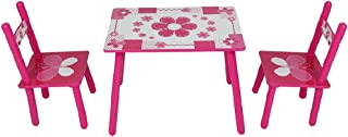 MorNon Table avec 2 Chaises pour Enfant Table Carré en Plastique Meuble Enfant 2-5 Ans