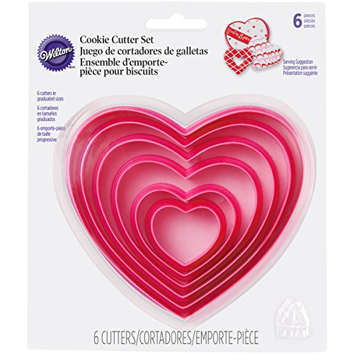 Wilton 2304-115 Nesting Heart Cutter Set
