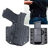 Bravo Concealment OWB Gun Holster + Free Mag Pouch fits Glock 19 19X 23 32, Glock 45