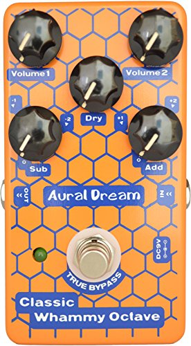 Aural Dream Classic Whammy Octave Guitar Effects Pedal with pitch Shift Up and Down 1octave and 2octave True Bypass