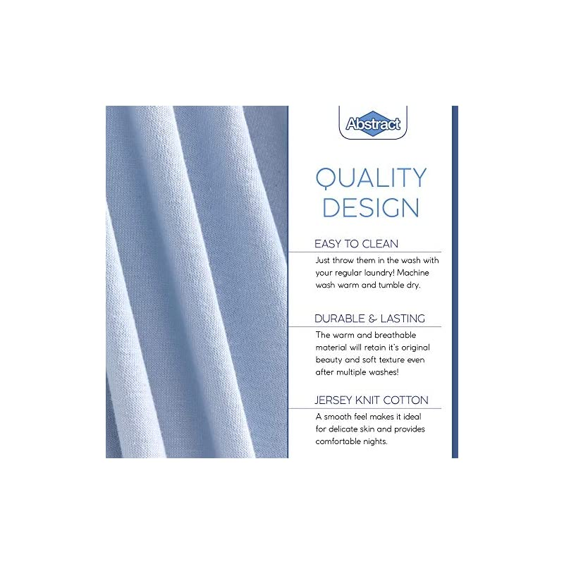 """crib bedding and baby bedding pack n play fitted sheet – super soft, 100% natural jersey cotton – 27"""" x 39"""" – for boys and girls, fits pack n play, playard and foldable mattresses - covered elastic hem – solid blue"""