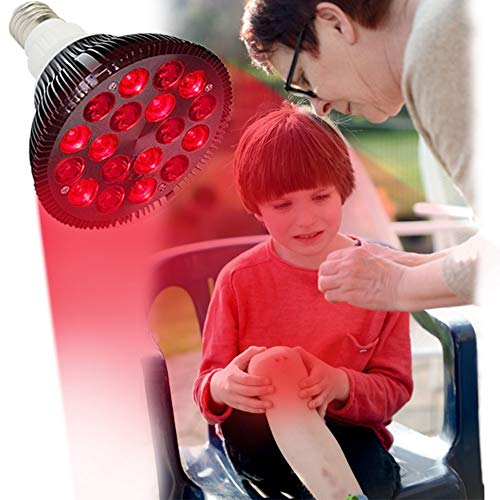 Red Light Therapy Lamp, Kokokala 36W 18 LED Infrared Light Therapy Device, 660nm Red and 850nm Near Infrared Combo Red Light Bulb for Skin and Pain Relief