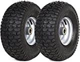AR-PRO 2 Pack 15' x 6.00-6' Tire and Wheel Set - for Lawn Tractors with 15' Wheels with 3/4' Bearings