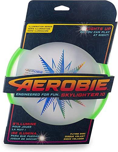 Aerobie Skylighter 10 Ultimate Flying Disc w/Super Bright Long Lasting LEDs Green