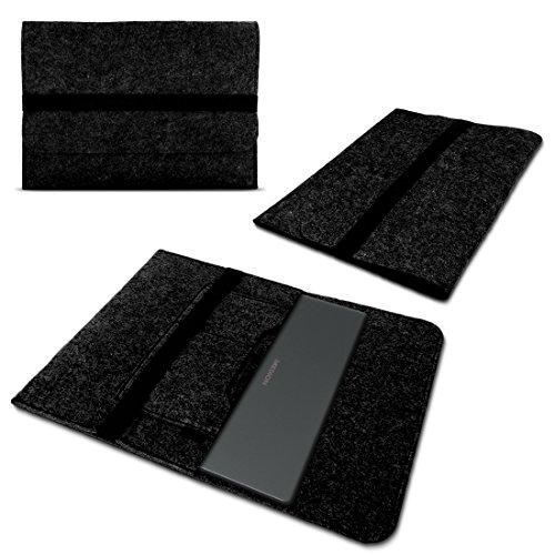 Nauci Laptop Schutzhülle kompatibel für Medion Akoya P3401T aus Filz mit Innentaschen Sleeve Hülle Tasche Cover 11.6 Zoll Notebook Hülle Tasche, Farbe:Dunkel Grau