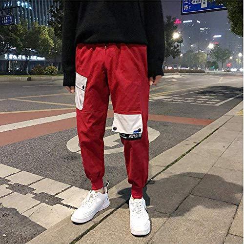 llk Heren casual broek, slanke Koreaanse versie van de trend kleine voet dunne negen divisie van kleding leggings joggingbroek XXL C