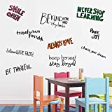 Assorted Inspirational Wall Quotes Decals for Kids Room Motivational Wall Quote Decor Art Stickers Stay Humble Work Hard Never Stop Learning