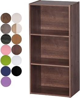 アイリスオーヤマ カラーボックス 3段 13色 収納ボックス 本棚 幅41.5×奥行29×高さ88cm ブラウン CX-3