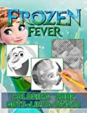Frozen Fever Dots Lines Swirls Coloring Book: Impressive Diagonal Line, Swirls Activity Books For Kid And Adult With Newest Unofficial Images