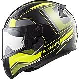 LS2 Casco de moto RAPID CARRERA Negro HI-VIS Amarillo, Negro/Amarillo, M (103532554M)