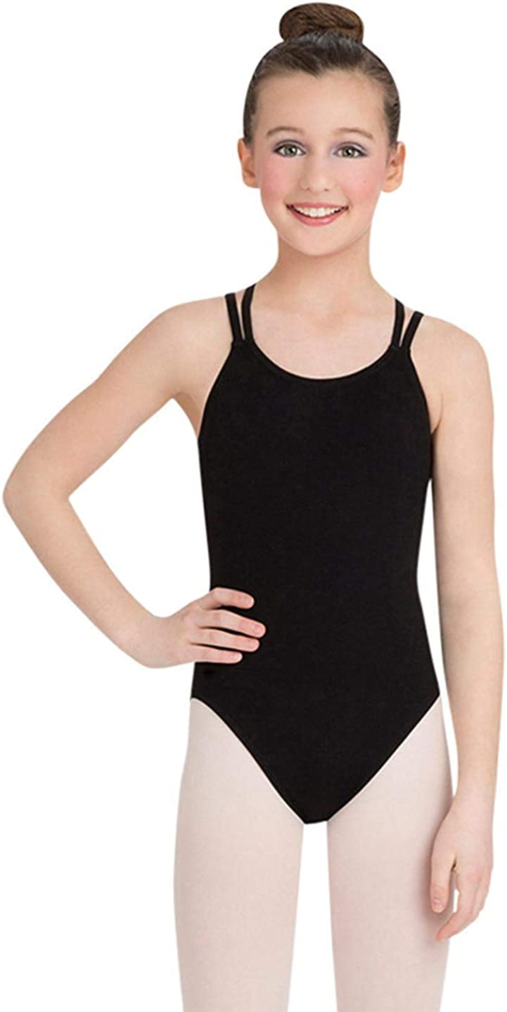 Capezio Girls' Classics Double Leotard Camisole Strap Spring new work Some reservation