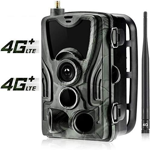 SUNTEKCAM 4G Wildkamera 20MP 1080P mit Infrarot-Nachtsicht bis zu 65 Fuß/20 m IP65 Spray Wasserdicht für Outdoor-Natur, Garten, Haussicherheitsüberwachung(Upgrade einfachere Kontrolle) HC-801LTE