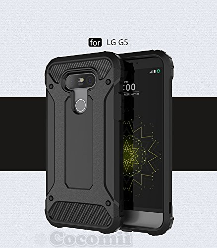 Cocomii Commando Armor LG G5 Case New [Heavy Duty] Premium Tactical Grip Dustproof Shockproof Hard Bumper Shell [Military Defender] Full Body Dual Layer Rugged Cover for LG G5 (C.Black)