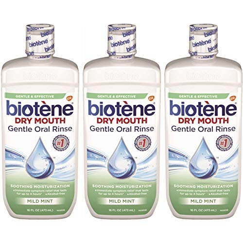 Biotene Dry Mouth Gentle Oral Rinse, 16 Ounces Each (Value Pack of 3)