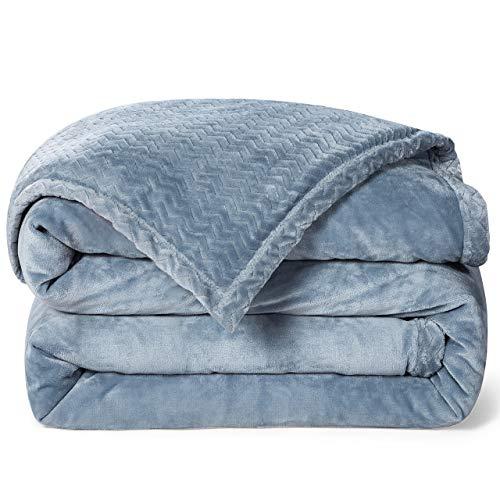 RATEL Mantas para Sofa Gris Claro + Gris 150×200cm, Mantas para Cama Mejorada 420GSM, Manta de Microfibra 100% Supersuave - Fácil De Cuidar- Ligera, Cálida, Cómoda Y Duradera