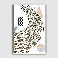 """ポスター カラーセット、ポスター、キャンバスホームアートワーク装飾抽象的な風景キャンバス壁アートリビングルームの寝室用-24X36インチ-24""""X36""""フレームなし_Mountain-1909-M10"""