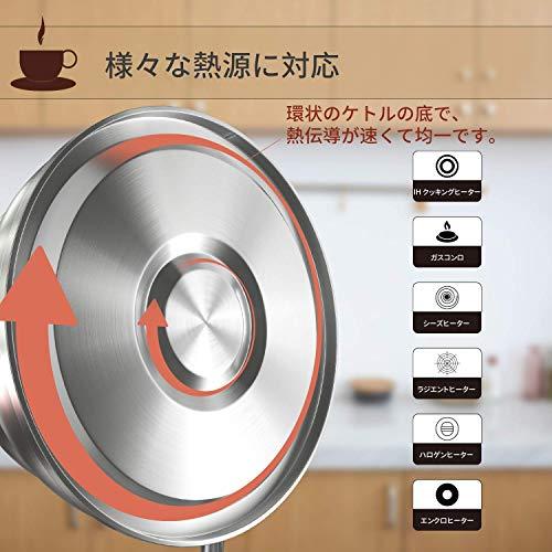 Sandooドリップケトル 1.0L miniコーヒーポット 細口ハンドパンチポット 温度計なし ih200V/100V対応 全ての熱源に対応 ステンレスケトル KE1211