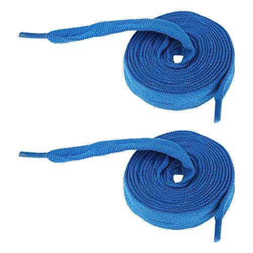 T TOOYFUL 2 Pairs Roller Skate/Inline Skate Shoe Laces, Shoelaces for Sneakers, Ice Skates, Speed Skating, Quad Skates, 180cm - Blue Purple